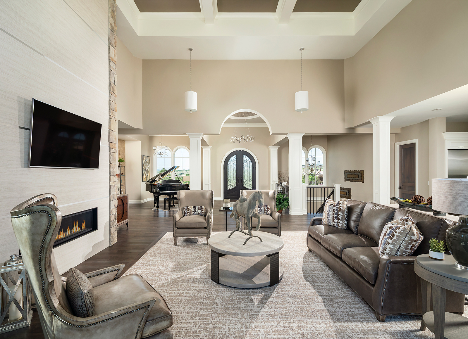 Great Room, Tall Ceilings, Front Door, Front Entry